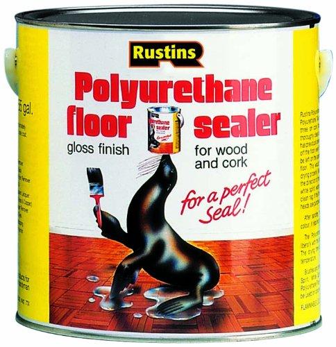 Rustins Versiegelungsmittel für Fußböden, Polyurethan, glänzend 1l 2,5L 5l, POFS2500