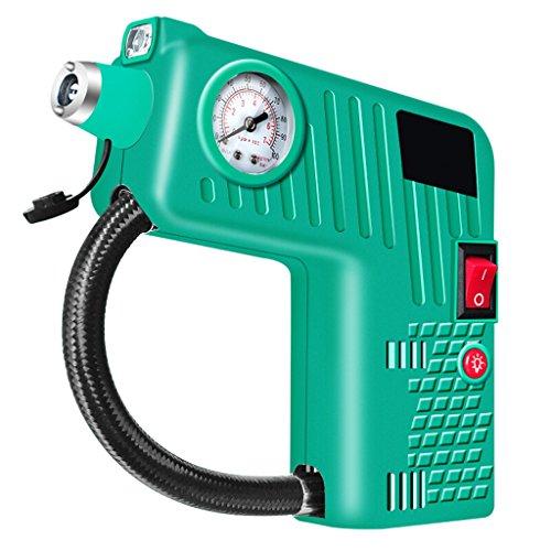 QIHANGCHEPIN Tragbare Luftkompressor-Pumpe 12V DC, Notreifen-Kompressor für MultifunktionsHaushaltsfahrzeug-Reifen-Luftpumpe für Fahrrad/Fahrrad-Reifen internes SOSUp zu 100PSI (Farbe : Grün)