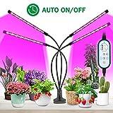 Pflanzenlampe 36W 96LED, Lovebay 4 Heads Pflanzenlicht, LED VOLLSPEKTRUM Wachsen licht für Zimmerpflanzen mit Zeitschaltuhr, 3 Arten von Modus, 10 Lichtstärken, Grow Lampe für Gartenarbeit Bonsais