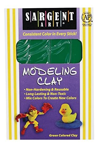Sargent Art 22-4066 1-Pound Solid Color Modeling Clay, Green by Sargent Art