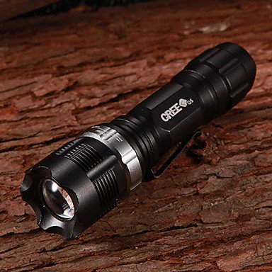 L@GY NF-X8455 Flood-to-Throw-Zooming CREE Q3 WC 3-Mode 160Lumen LED-Taschenlampe mit Clip (1xAA/1x14500)