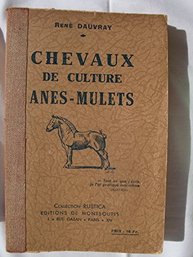 Chevaux de culture-anes-mulets