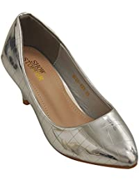 Show Stopper Silver Coloured Synthetic Upper Slip On Shoes For Women