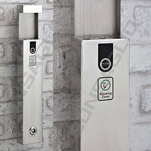 Preisvergleich Produktbild Standascher aus Edelstahl und Zink Anti Korrosion,  mit zusätzlichen Schutz für die Wetter