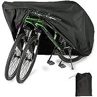 Housse de Vélo, YZCX Housse de Bicyclette Imperméable Polyester Oxford Haute Qualité Convient Aux Vélos et Aux Scooters. Peut Couvrir Jusqu'à Deux Vélos