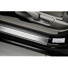 4 MOLDURAS CROMADAS / UMBRALES PUERTA apto para el SUZUKI GRAND VITARA 2 (3 puertas Hatchback) [2005-2014] ACERO FINO