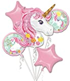 Amscan 3727401 Folienballon Bouquet Magical Unicorn