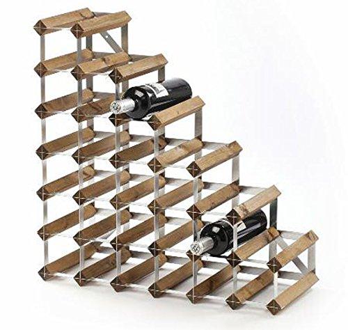 27Flasche montiert unter Treppen Traditionelle Wein Rack dunkle eiche