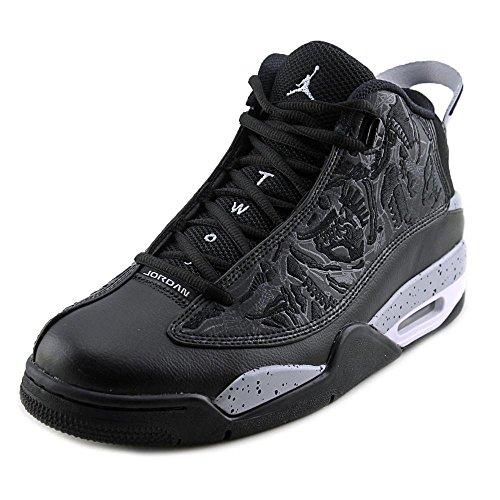 nike-jordan-mens-air-jordan-dub-zero-black-wolf-grey-white-basketball-shoe-115-men-us
