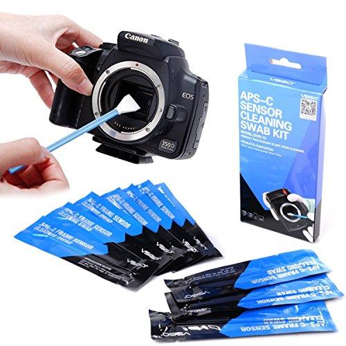 Reinigungsschwaber, Typ 2 (VSOG DDR15) für APSC Sensor (CCD/CMOS): Paket enthält 10 x 16 mm Reinigungstupfer -