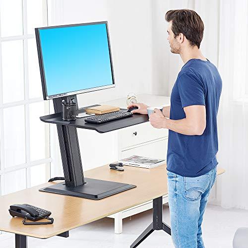 NB North Bayou Sitzständer/Tisch-Konverter, passend für die meisten Bildschirme von 55,9-81,3 cm innerhalb von 11,4-24,2 lbs mit großer und geräumiger Tastatur Nb-computer