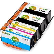 Gohepi 934XL/935XL Compatibile per Cartucce HP 934XL 935XL, 2 Neri/Ciano/Magenta/Giallo 5-Pacco Lavorare con HP Officejet Pro 6830 6230 6820 6825 6812 6815 6835 6836