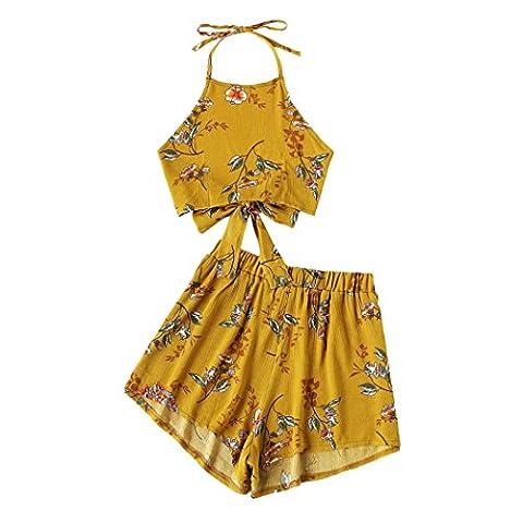 Fuibo - Débardeur - Femme jaune jaune - jaune - Medium