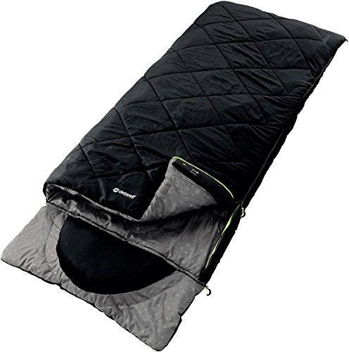 Outwell Erwachsene Schlafsack Contour, Black, 225 x 90 cm, 230084
