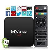 2017 MXQ Pro Android TV Box 1GB + 8GB Amlogic S905 64 Bits Quad Core 4K Full HD H.265 Compatible 3D Flash Wifi Smart Box