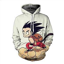 Sudadera Dragon Ball clásica Goku niño sobre Kinton blanco roto