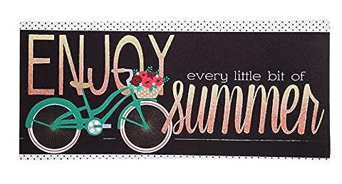Evergreen Sommer Fahrrad Dekorative Fußmatte einfügen, 25,4x 55,9cm