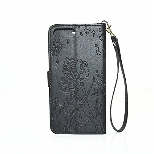 iPhone 7 Plus Hülle Bling,iPhone 7 Plus Hülle Damen,iPhone 7 Plus Hülle Glitzer,iPhone 7 Plus Hülle Flip Case PU Leather Leder Wallet Etui Cover,iPhone 7 Plus 5.5 Zoll Leder,EMAXELERS Bling Diamant Gl C Diamond Girl 8