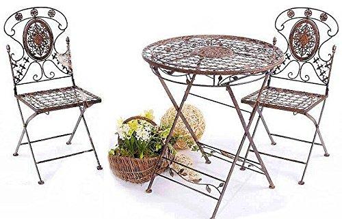 Table avec 2 chaises style colonial Fer Forgé Avis
