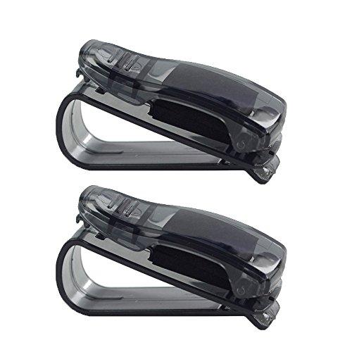 Boladge 2pcs Fahrzeug Zubehör Auto Sonnenblende Haken Clips Auto Sonnenbrille Brillen Karten Halter (Blau) (Schwarz) (Auto Sonnenblende-ersatz)