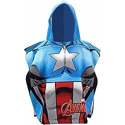 Poncho toalla Capitan America Vengadores Avengers Marvel microfibra