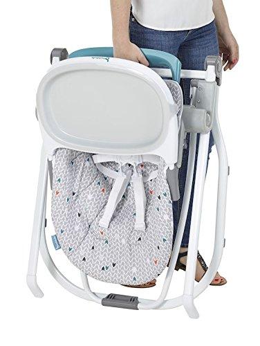 Chaise haute Badabulle compacte et multipositions pour bébé - Grise