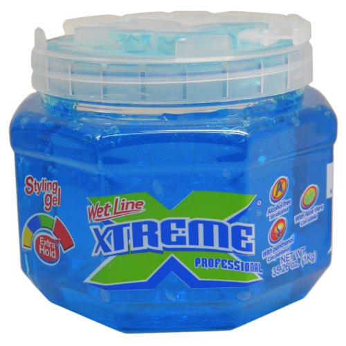 Wet Line Xtreme Professional Styling Gel Extra Hold Blue 35.26 oz. by Wetline (Extra Hold Styling Gel)