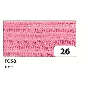 Fil chenille métallique, rose, 50 cm, lot de 10