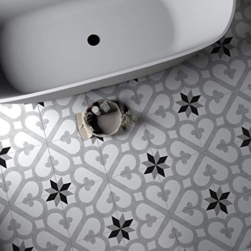 Sticker Tile Stickers Kitchen Wall Art Bathroom Wall Art Floor Waterproof & Removable Best Selling Items Trending Now Peel & Stick Vinyl Adhesive Tiles(Set 12 Units) (12 X 12 Vinyl Floor Tile)