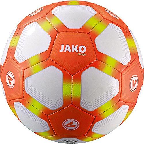 JAKO Lightball Striker Ball, weiß/Neonorange/Neongelb-350g, 5