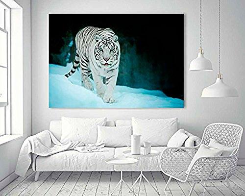 Cuadro PVC Tigre Blanco | Varias Medidas 140x70cm