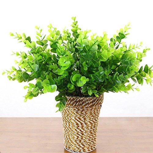 Künstliche Gras, woopower 1Fake Pflanzen Indoor Outdoor Fake grünen Bush Home Office Garten Decor, #4, Free Size (Fake Indoor-gras)