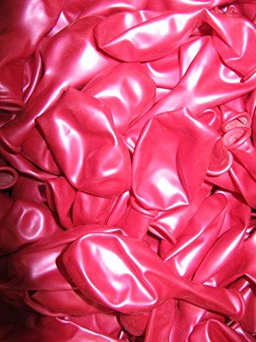 100 Luftballons Metallic Ø 28 cm Farbe frei wählbar Ballons Helium Luftballon Hochzeit Valentinstag NEU (Pink)