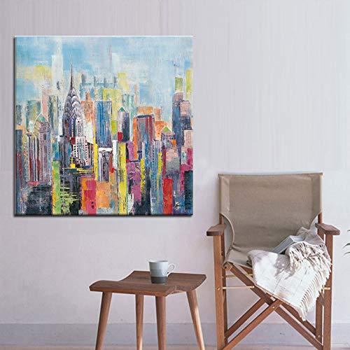 WSNDGWS Pintura de inyección de Tinta, decoración del hogar, Pintura Abstracta, Pintura al óleo