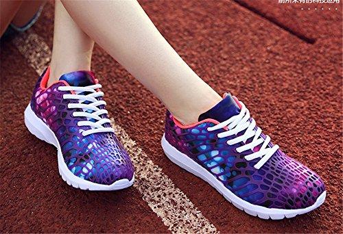 Wealsex Chaussures de Sport Basket Course Fitness Compétition Entraînement En Mesh Respirante Légère Coloré Multisport Outdoor Homme Femme Violet