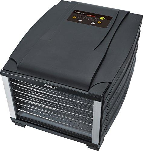 Steba ED 6 Elektronischer Dörrautomat  6 Edelstahl-Auszüge  800 W, schwarz