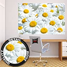 Margherita fiore prato fotomurale decorazione da parete by GREAT ART (140 x 100 cm)