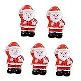 MagiDeal Miniature Fata Giardino Babbo Natale Ornamenti per Decorazione Artigianale Micro Paesaggio