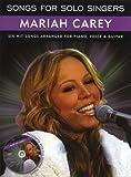Songs For Solo Singers: Mariah Carey. Partitions, CD pour Piano, Chant et Guitare(Symboles d'Accords)