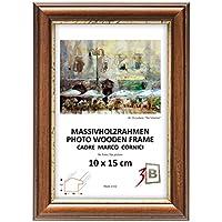 Set di pezzi 2 Cornici BARI RUSTICO - marrone scuro - 30x40 cm - Solide Cornici in Legno per Foto mit Plexiglas - Protezioni Foglio Orizzontale