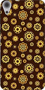 The Racoon Lean printed designer hard back mobile phone case cover for HTC Desire 820. (Yellow Flo)