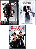 Get Ready Pack: Underworld Blood Wars + Witch Hunters Hansel & Gretel + Assassins Creed (DVD 3 Feature Films) Fantasy Fairy Tale Video Gamer Collection