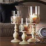 Retro Glas-Esstisch/Hochzeit Kerzenhalter Muttertag für Mutter - 9.3*9.3*32cm
