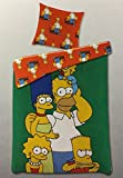 The Simpsons Family Bart Homer Maggy Lisa Marge Öko Tex Wende-Bettwäsche 150x210 / 50x60 cm NEU