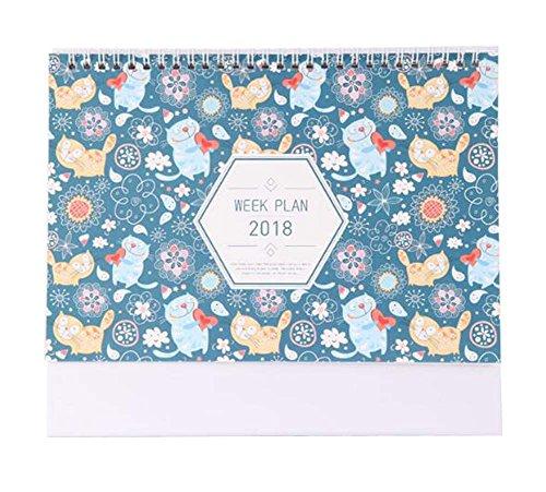 2017-2018 Kalender Monatlich, wöchentlich, täglich, Notizbuch Schreibtisch Kalender-Katze Typ (Schreibtisch Katze-kalender)