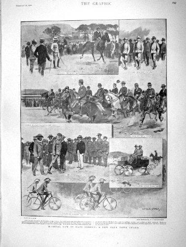 Original old antique victorian print Cape Town-Schutz-Kolonien-Afrika-Boer-China-Krieg 1901 - Afrika Antique Print
