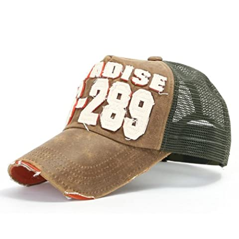 ililily Distressed Vintage Mesh Baseball Cap Snapback Trucker Hut (ballcap-440-4)