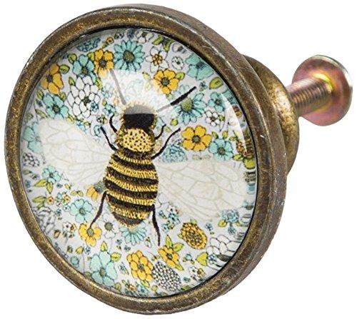 Sass & Belle Verre et métal d'été Floral Bee tiroir de Multicolore