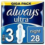 Always Ultra Night Binden (mit Flügeln) Größe3, 1er Pack (1 x 28 Stück)