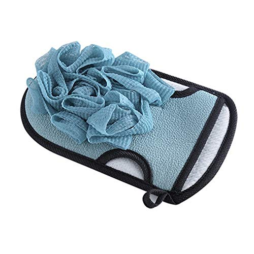 Preisvergleich Produktbild Shengjuanfeng Badehandschuhe Doppelseitige Starke Peeling-Spa-Massagehandschuhe (Color : Blue)